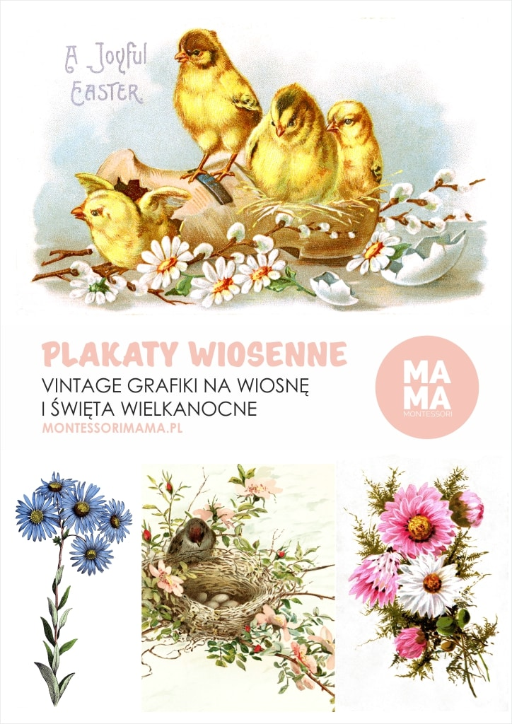 Wiosenne Grafiki Plakaty Do Pobrania Montessori Mama